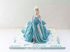 Frozen Elsa doll cake - cake by Cakes for mates - CakesDecor Frozen Doll Cake, Frozen Party Cake, Elsa Doll Cake, Disney Frozen Cake, Frozen Dolls, Frozen Birthday Cake, Frozen Theme, Elsa Cakes, Cake Topper Tutorial