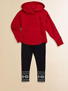 Ralph Lauren - Toddler's & Little Girl's Fleece Hoodie