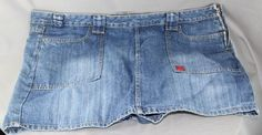 NWOT Bongo Skort Women's Heavy Duty Denim Size 22 Skort - Skirt w/ Shorts Under #Bongo #Skorts