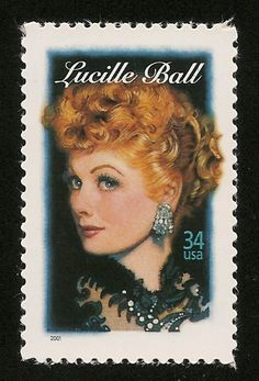 I Love Lucy The Lucy Show Here's Lucy Lucille Ball Queen of Comedy Stamp MINT!