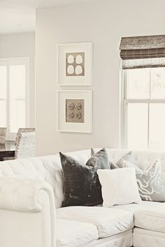 Love the neutral greys and browns together.