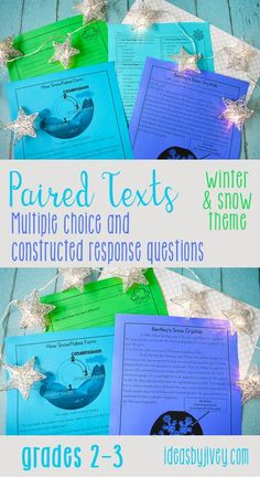 "Use these paired passages with your students to integrate high-interest, engaging informational passages about snow: one about how it forms and one about the first photographer to capture snowflakes on film; two passages about winter sports- one about how to ski and one about sled safety; and the poem, ""Little Jack Frost"" along with an informational passage about frost. #pairedtexts #readingactivities #secondgrade #thirdgrade"