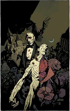 Dracula and Frankenstein's Monster by Mike Mignola *