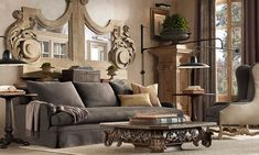I didn't think I was an ornate home decour kind of gal, until I picked up a new Restoration Hardware catalogue. I love all the Baroque and classical inspired wood carvings!