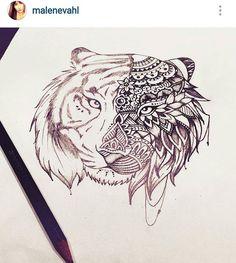 Most popular tiger mandala tattoo arm Ideas Arm Tattoos, Body Art Tattoos, Sleeve Tattoos, Tattoo Arm, Tattoo Sketches, Tattoo Drawings, My Drawings, Tiger Tattoo, Lion Tattoo