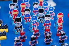 Festa infantil cheia de Super Heróis, divertida, criativa e com o super poder de fazer aniversariante e convidados sorrirem.