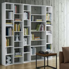With a unique wavy profile, the stylish Valsa Bookshelf by Temahome will feel…