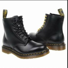 Black Doc Martin Boots - LIVED in these during High School & still wear them to this day!