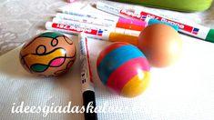 Ιδεες για δασκαλους: Πασχαλινά αυγά με μαρκαδόρους και λαδοπαστέλ Eggs, Easter, Easter Activities, Egg, Egg As Food