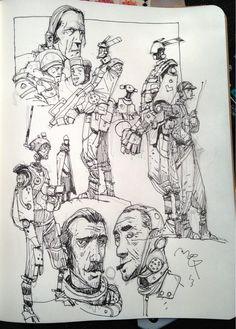 Sketchbook: Robots & Ripper Street