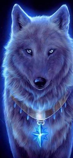 Blue Wolf Wallpapers Zedge - See more wallpapers - Wolf-wallpapers. Mystical Animals, Mythical Creatures Art, Fantasy Creatures, Wolf Photos, Wolf Pictures, Wolf Wallpaper, Animal Wallpaper, Cute Wolf Drawings, Galaxy Wolf