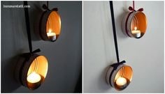 DIY: Portavelas colgantes. Lucumavolatil.com