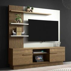 Living Room Wall Decor Intrior 41 Modern And Minimalist TV Wall Living Room Decor Ideas Living Room Tv Unit Designs, Living Room Wall Units, Ceiling Design Living Room, Bedroom Cupboard Designs, Tv Unit Decor, Tv Wall Decor, Room Decor, Tv Cabinet Design, Tv Wall Design