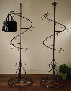 purse display | Spiral Purse Display Tree (Scarf, Purse & Fashion Displays)