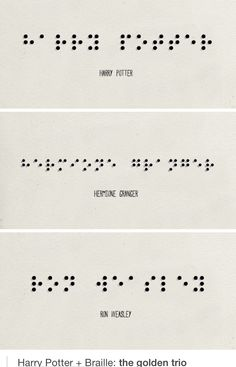 Harry potter book in braille
