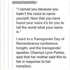 #lgbt #tumblr I'm not transgender but I love this post