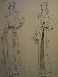 This vintage sewing book from the 50s has some gorgeous illustrations! $10