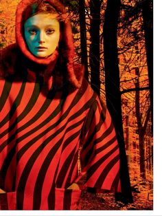 legends of the fall: sophie touchet by jean-claude lussier for elle canada october 2014