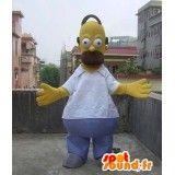 Mascotte d' #Omer #Simpson, célèbre personnage de dessin animé Les Simpson.  #SpotSound France, #Mascottes personnalisées et vente de #deguisements, #mascottes, #costumes, envoi gratuit dans le monde entier.