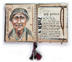 Stephanie Ledoux - The Motorcycle Diaries Voyage Sketchbook, Travel Sketchbook, Art Sketchbook, Ledoux, It's Going Down, Urban Sketching, Art Themes, Art Journal Inspiration, French Artists