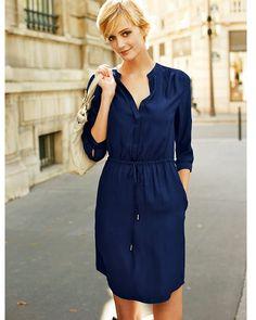 Marin klänning La Redoute