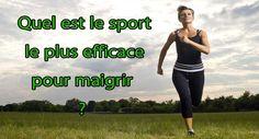 Quel est le sport le plus efficace pour maigrir?