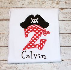 Boy's Pirate Birthday Shirt Girl's Pirate by thesimplyadorable, $20.00