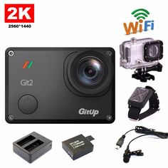 Free Shipping!!Gitup Git2 Novatek 96660 1080P WiFi 2K Sports Helemet Camera+Extra 1pcs Battery+Battery Charger+Mic+Remote Control                        Main feature:Novatek 96660For Sony IMX206 16MP Sensor170 degrees 7 glass lens: 170 degrees / 120...  http://www.etproma.com/products/free-shippinggitup-git2-novatek-96660-1080p-wifi-2k-sport-helemet-cameraextra-1pcs-batterybattery-chargermicremote-control/