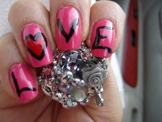 """""""Heart, Love, Nails"""" by blanca1018"""