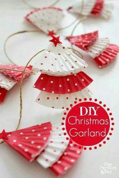 Cute home made Christmas garland