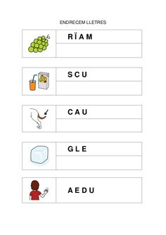 Catalan Language, Math About Me, Preschool Activities, Classroom, Letters, Writing, Reading, Word Reading, Activity Sheets For Kids