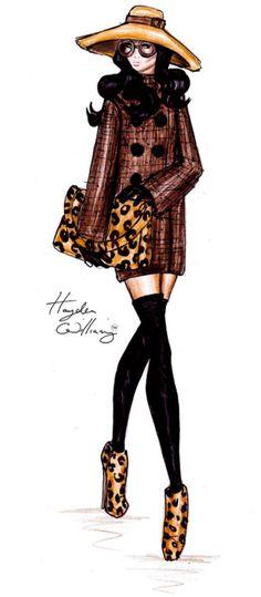 A Stylish Stroll by Hayden Williams fashion illustration Hayden Williams Fashion Illustrations Fashion Art, Love Fashion, Trendy Fashion, Girl Fashion, Fashion Kids, Leopard Fashion, Couture Fashion, Fashion Models, Fashion Trends