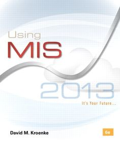 """Using MIS shows how businesses use information systems and technology to accomplish their goals, objectives, and competitive strategy. With a new edition now publishing each year, Using MIS, 6e, contains fresh, new, and current material to help keep your students up to date."""