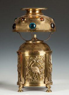 to Bradley & Hubbard Aesthetic Lamp Century. to Bradley & Hubbard Aesthetic Lamp Century. Art Deco Lamps, Art Deco Lighting, Unique Lighting, Interior Lighting, Antique Oil Lamps, Vintage Lamps, Vintage Art, Vintage Antiques, Art Nouveau