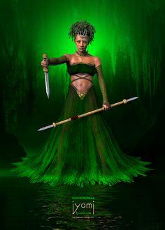 Yoruba Orishas, African Mythology, Yoruba Religion, Black Art Pictures, Black Goddess, Soul Art, Black Women Art, Ivory Coast, Gods And Goddesses