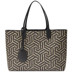 Gucci Reversible Gg Caleido Leather Tote ($1,250) ❤ liked on Polyvore featuring bags, handbags, tote bags, black, totes, women's lifestyle bags, genuine leather tote, leather tote bags, tote handbags and gucci purses