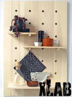 Oragnizer da parete in cucina legno multistrato