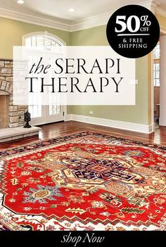 Ending Tonight: 50% off on all Serapi rugs & Free shipping. Shop now