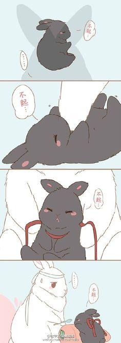 by 牧羊大烧麦雏雏 – weibo.com/mewkoala Anime Chibi, Kawaii Anime, Manga Anime, Bunny Drawing, Bunny Art, Kawaii Bunny, Cute Bunny, Cute Animal Drawings, Cute Drawings