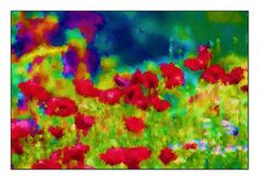 Poppies Anzac Poppy, Maki, Flanders Field, Bold Colors, Collages, Poppies, Glass Art, Flora, Digital Art
