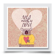 PINK KOALA BEAR canvas wall art, is the perfect wall décor for a girls nursery or bedroom. Order your art print today from http://www.madicleo.com/collections/wall-art-for-girls-rooms
