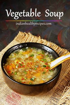 This hearty vegetable soup is delicious, healthy & super quick to make just under 20 mins. Throw in your favorite veggies & spice it up! soup via Indian Recipes soup healthy recipes rezepte soup soup Homemade Vegetable Soups, Hearty Vegetable Soup, Vegetable Soup With Chicken, Vegetarian Soup, Vegetarian Recipes, Healthy Recipes, Healthy Soup, Indian Food Recipes, Beef Recipes