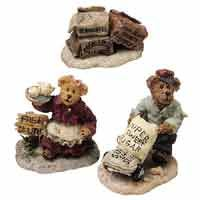 Boyd's Town Village figurines...Dominick's Delivery, Caitlin's Samples & Sweet Treats.