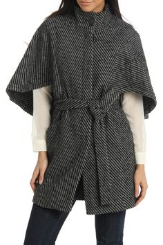 Luv it, in another color though please~ Capelet Coat With Belt