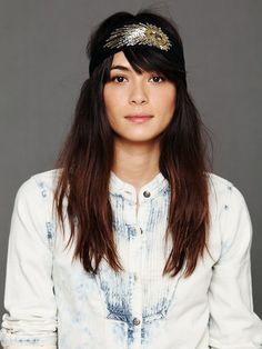 Free People Embroidered Headband, $9.95