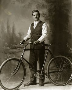 Vintage Bicycle Antique Bicycle Italian Immigrant with His Bicycle Must See