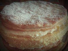 Torta diplomatica con crema chantilly aromatizzata al limone♥