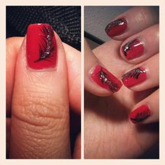 own nails feathers Red Feather, Diy Projects To Try, My Nails, Feathers, Makeup, Hair, Manicure, Make Up, Face Makeup