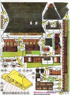 Drevenice ze Slovenska – dum z dolni Oravy + goralske obydli [ABC 1977-78 - 03] из бумаги, модели бумажные скачать бесплатно - Дом - Архитектура - Каталог моделей - «Только бумага»