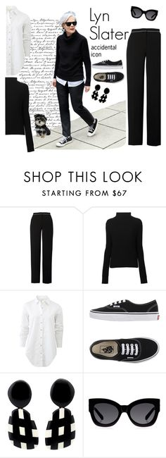 """Lyn Slater"" by soofiia ❤ liked on Polyvore featuring Uniqlo, Chesca, LISKA, rag & bone, Vans, Monies and Karen Walker"